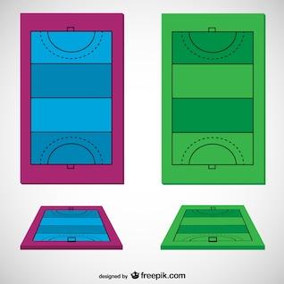 Hockey field vector template