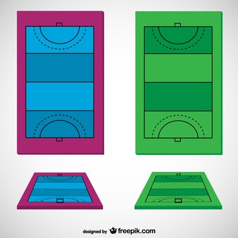 Hockey field vector template