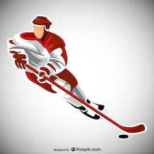 Hockey sport player