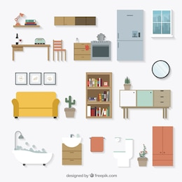 Home furniture icons