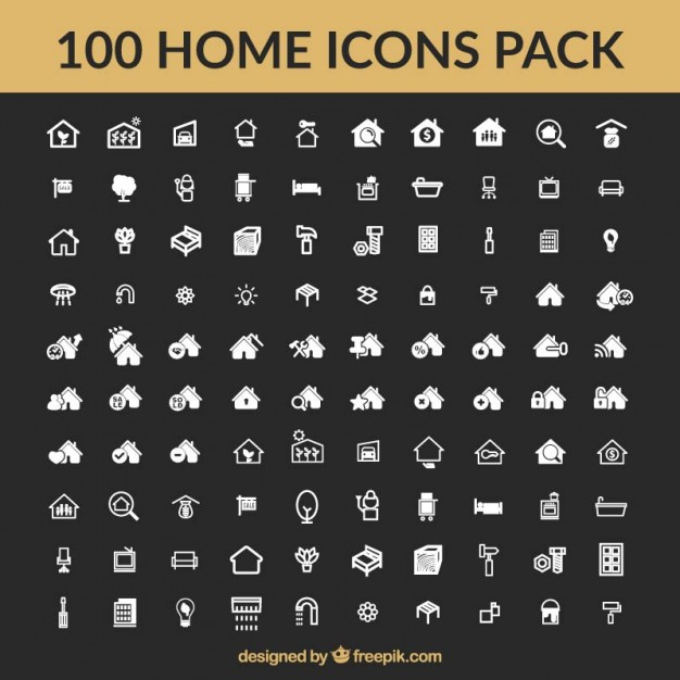Home icons vector collection