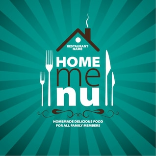 Home menu advertising stripes design