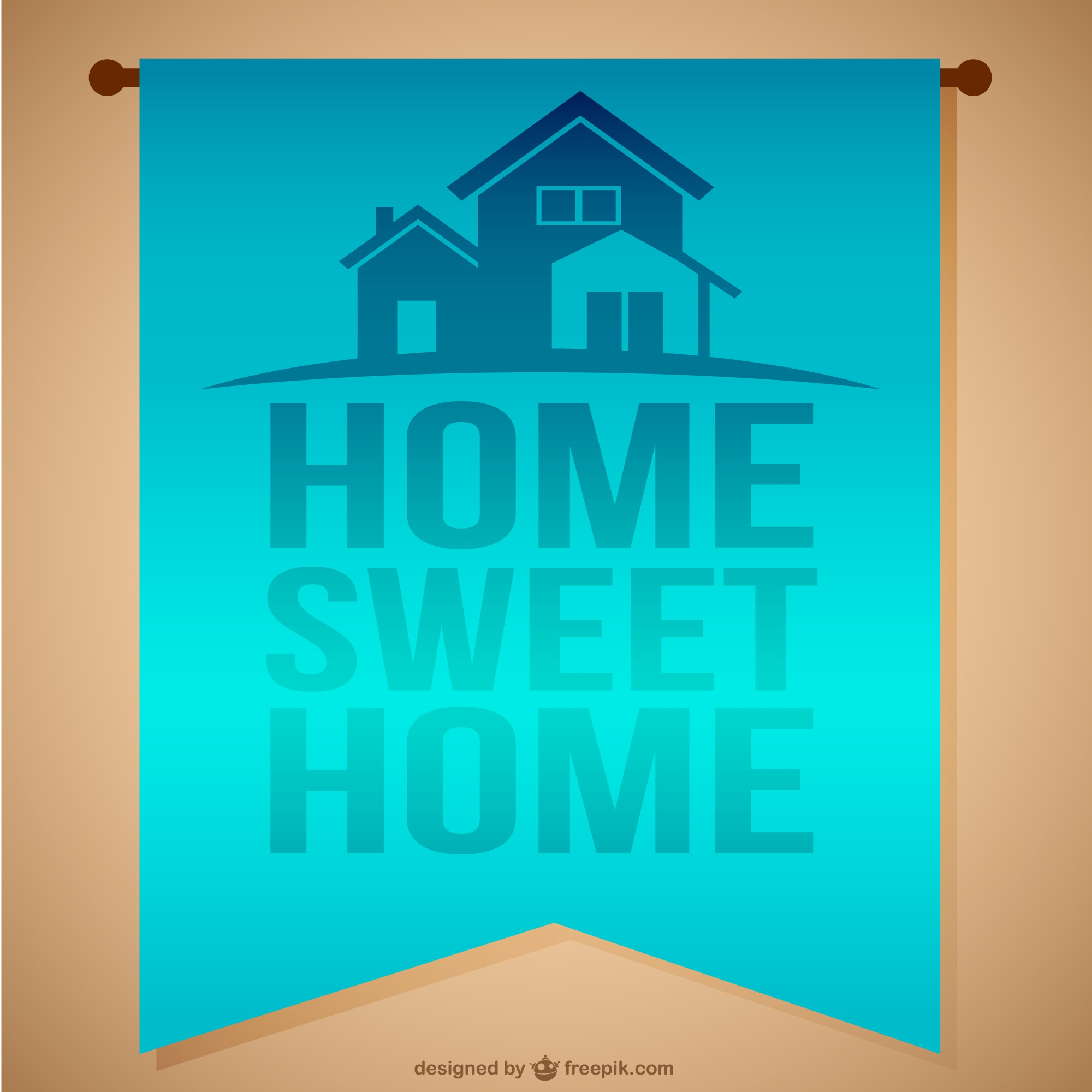Home sweet home hanging banner