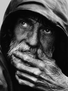 Homeless, man