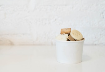 Homemade ice-cream in cup