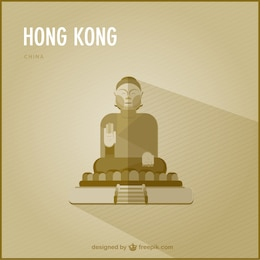 Hong Kong landmark vector