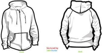 Hoodie templates free vector