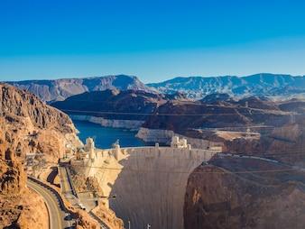 Hoover Dam in Nevada, USA .