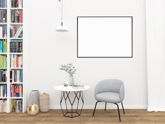 Horizontal frame mockup