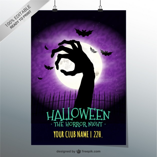 Horror night party poster
