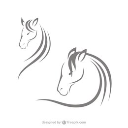 Horse head logos