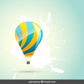 Hot air balloon on grunge background