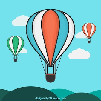 Hot air balloons illustration