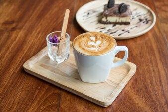 Hot coffee in mug