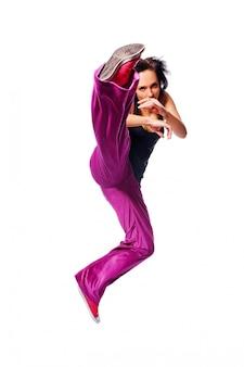 Hot dancer jumping