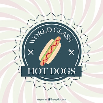 Hot dogs vector badge