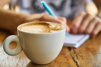 Hot drink woman mug macro freshness