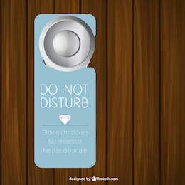 Hotel door sign vector