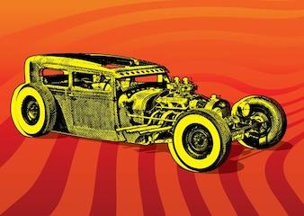 Hotrod Car Vector
