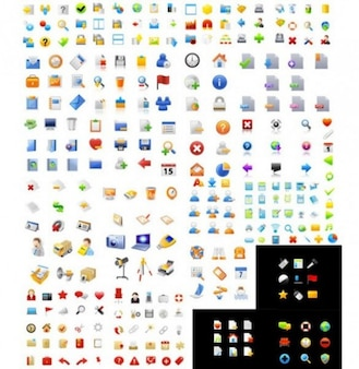 huge pack of stylish vector icons