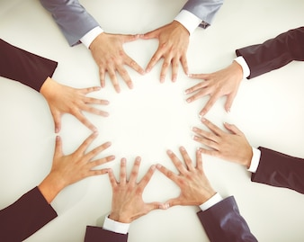 Human companionship business finger together