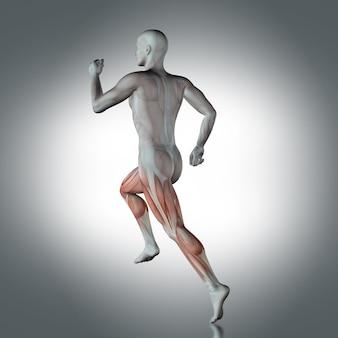 Human figure running