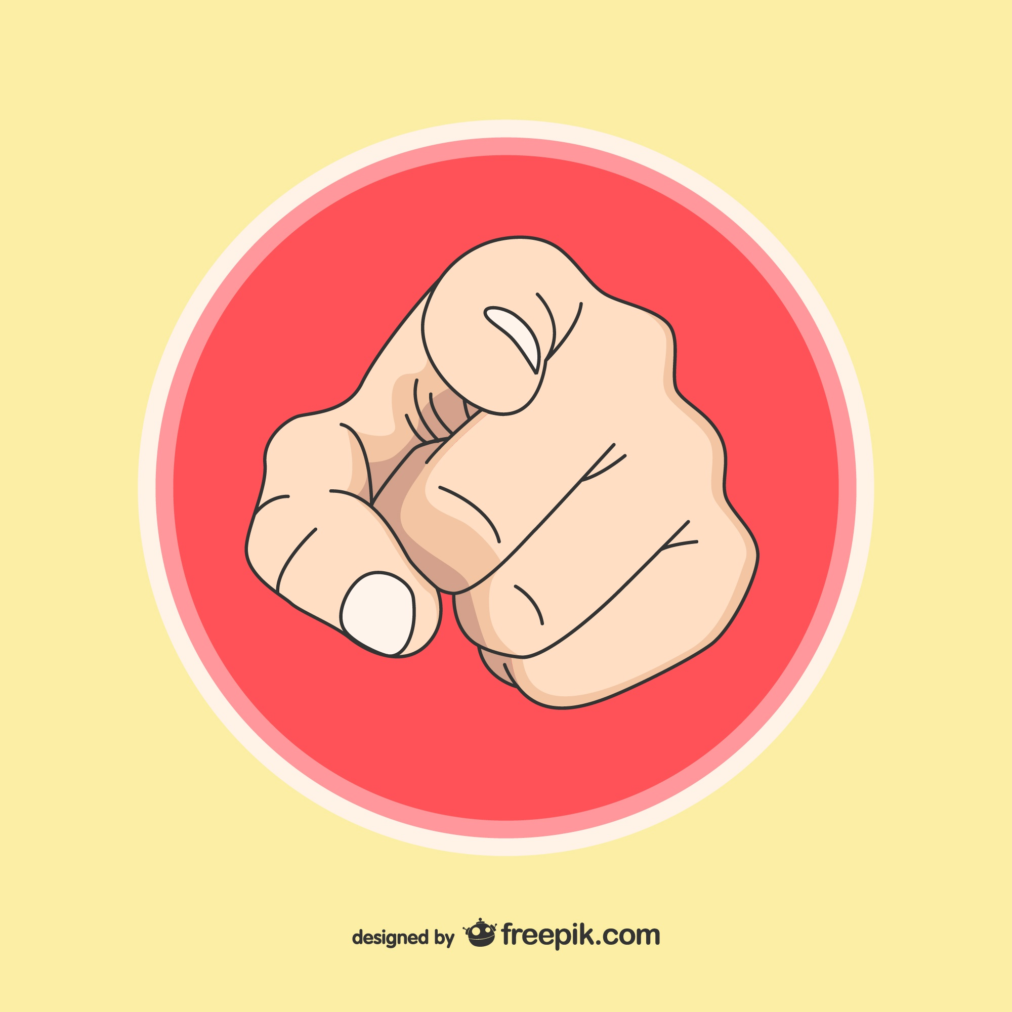 Human hand pointing you illustration