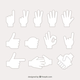 Human hands sign collection