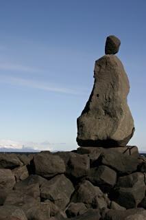 Human like rock sculpture, rock