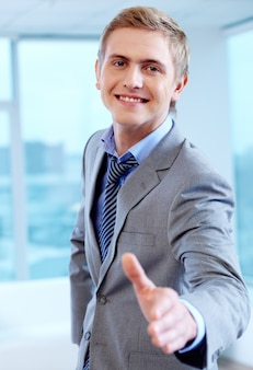Human successful masculine worker young