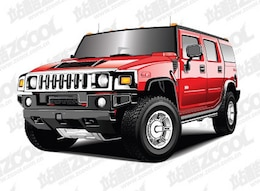 Hummer Auto Vector material