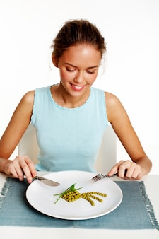 Hungry healthy diet nutrition beautiful