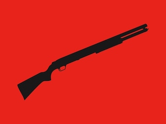 Hunting rifle silhouette outline vector