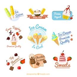 Ice cream badges