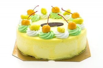 Ice cream mango cake