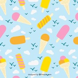 Ice creams pattern