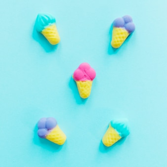 Ice-crean shaped candies