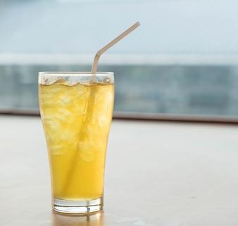 Iced Chrysanthemum tea glass