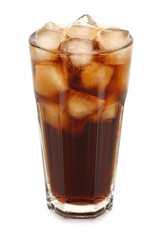 Iced cola in tall glass