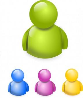 Icon internet chat people symbol buddy
