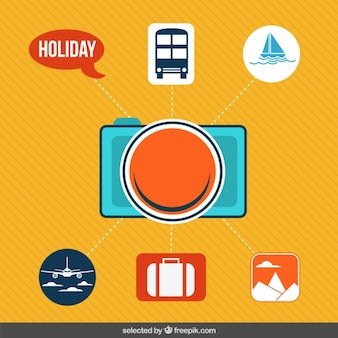 Icons for holidais infograpihic