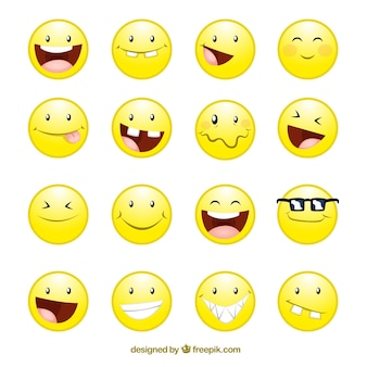 Icons of smile faces