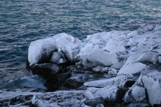 Icy cliff, cliff, frosty