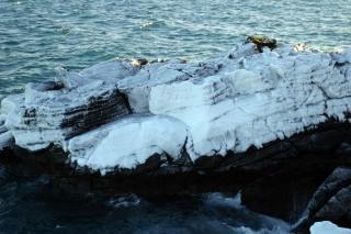 Icy cliff, ice