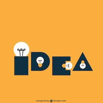 Idea made of light bulbs
