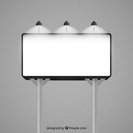 Illuminated billboard mockup