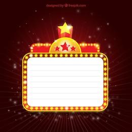 Illuminated cinema banner