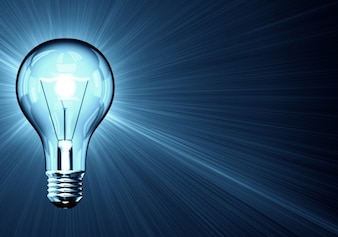 Illuminated light bulb background