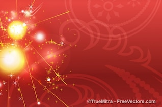 Illuminated red background