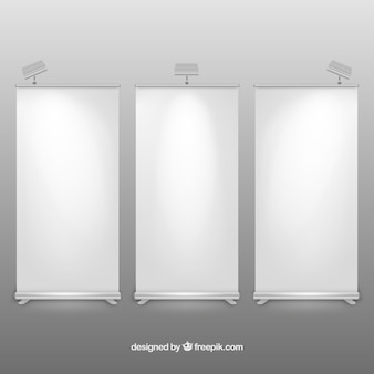 Illuminated roll up banners